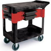 "View: Rubbermaid 6180 Trades Cart with 5"" (12.7 cm) Casters Includes 2 parts boxes and 4 parts bins"